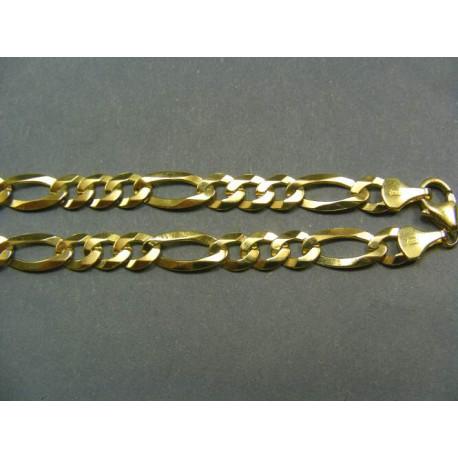 Zlatá Retiazka zlté zlato vzor figaro