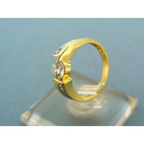 Dámsky prsteň žlté zlato kameň zirkón
