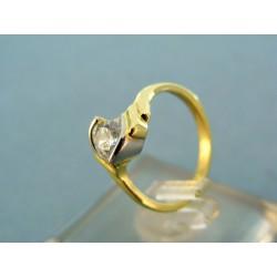 Zlatý prsteň dvojfarebné zlato kameň zirkón VP48213V