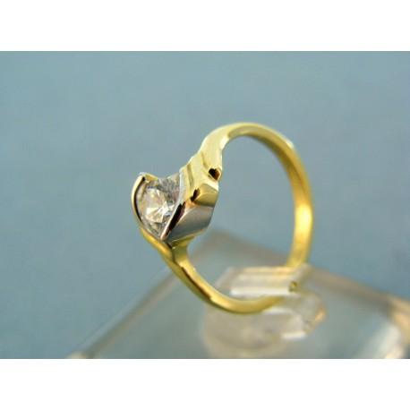 Dámsky prsteň dvojfarebné zlato kameň zirkón