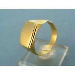 Zlatý pánsky prsteň žlté zlato čisté tvary VP69514Z