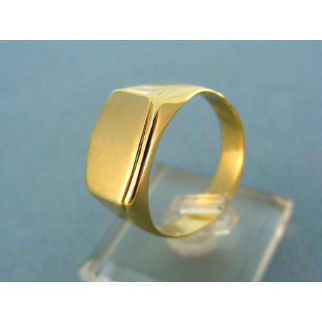 Pánsky zlatý prsteň žlté zlato čisté tvary