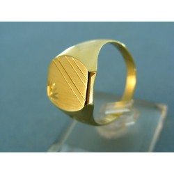 Pánsky prsteň žlté zlato so vzorom