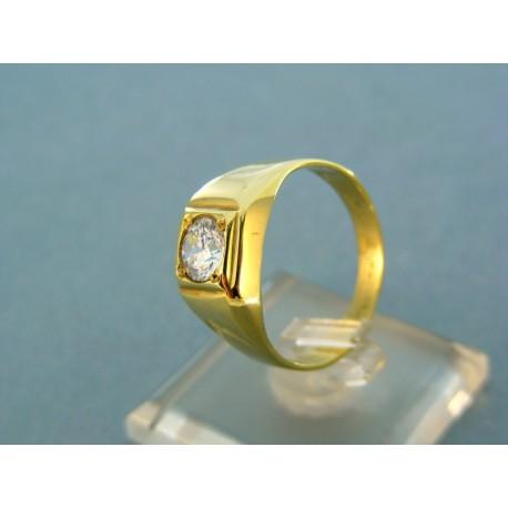 Zlatý pánsky prsteň so zirkónom