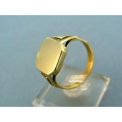 Štýlový pánsky prsteň žlté zlato