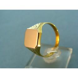 Zlatý pánsky prsteň pečatný platnička červené zlato VP65542V