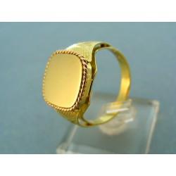 Pánsky prsteň dvojfarebné zlato okrasná lišta červené zlato