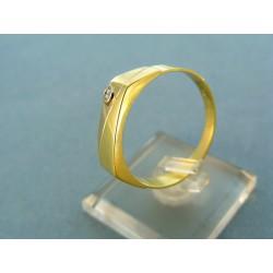 Zlatý pánsky prsteň dvojfarebné zlato so zirkónikom VP70416VP