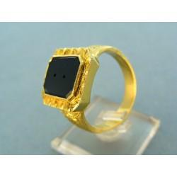 Zlatý pánsky prsteň vzorovaný pečatný predprípravá VP731130ZP