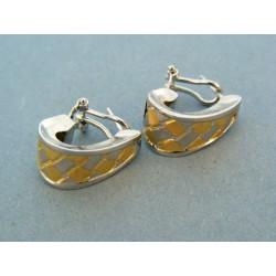 Zlaté náušnice dámske zlato dvoj farebné biele a žlté DA576V