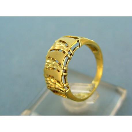Moderný dámsky prsteň žlté zlato