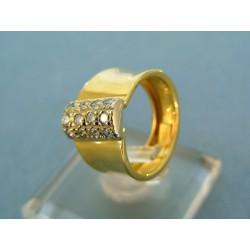 Zlatý prsteň so zirkónikmi žlté zlato VP49384Z