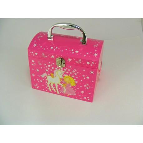 Dievčenská hrajúca šperkovnica bočné zásuvky ružová