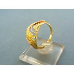 Zlatý prsteň dvoj-farebné zlato vzory VP58276V