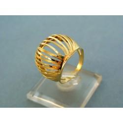 Zlatý prsteň veľký netradičného tvaru žlté zlato VP55358Z