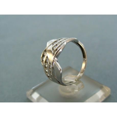 Dámsky prsteň biele zlato dizajnové