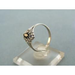 Zlatý dámsky prsteň biele zlato kameň čierny zirkón VP55219B