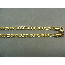 Zlatá retiazka vzor figaro VR45817
