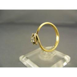 Diamantový prsteň v žltom zlate VD54205