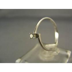 Diamantový prsteň v bielom zlate VD54143
