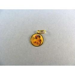 Zlatý prívesok anjel žlté zlato VI057K
