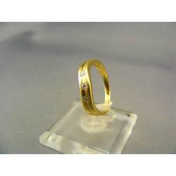 Zlatý dámsky prsteň žlté zlato VP51225Z