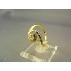 Zlatý prsteň v tvare slimaka žlté zlato VP54370Z