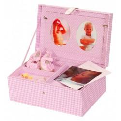 Pamätný box ružový 635