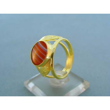 Pánsky prsteň s farebným kameňom