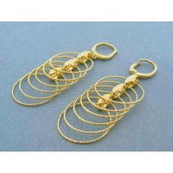 Zlaté dámske náušnice visiace žlté zlato VN721Z