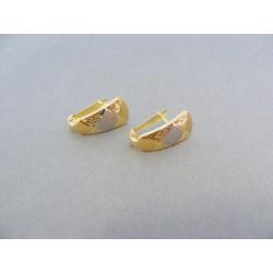 Zlaté náušnice jemné žlté biele zlato VA134