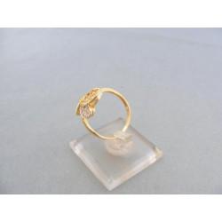 Dámsky prsteň v žltom a bielom zlate