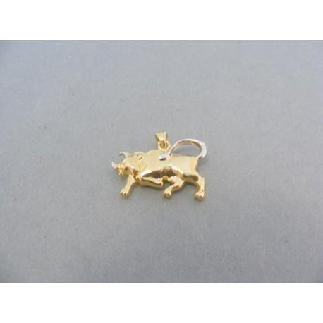 Prívesok znamenie býk žlté biele zlato