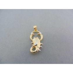Zlatý prívesok znamenie škorpion žlté biele zlato VI135V
