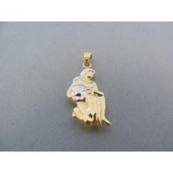Zlatý prívesok znamenie panna žlté biele zlato VI145V