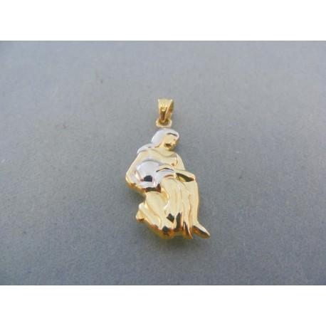 Prívesok znamenie panna žlté biele zlato