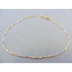 Zlatý náramok na ruku žlté biele zlato VN191V