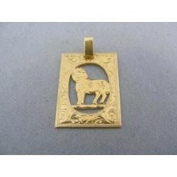 Zlatý prívesok znamenie baran žlté zlato tehlička VI262Z
