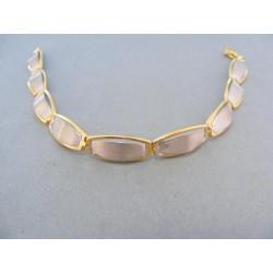 Zlatýn náramok žlté biele zlato polo-pevný VN195571V