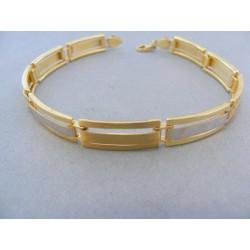 Zlatý náramok žlté biele zlato polo-pevný obdĺžikovy tvar VN2151186V