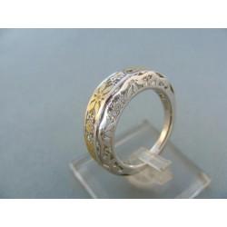 Zlatý dámsky prsteň moderný dvojfarebné zlato VP58173V