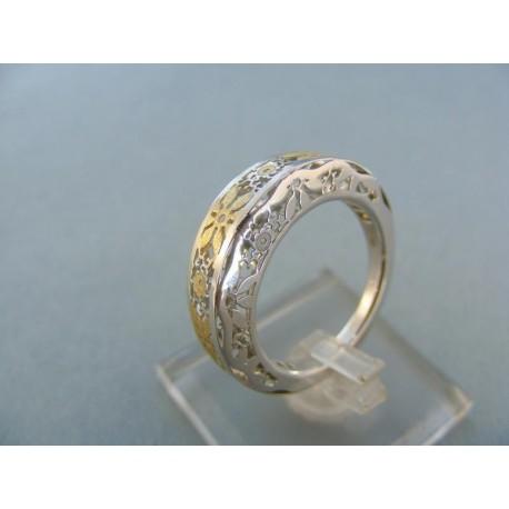 Moderný dámsky prsteň dvojfarebné zlato