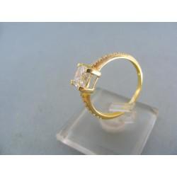 Prsteň dámsky žlté zlato kamienky zirkónu