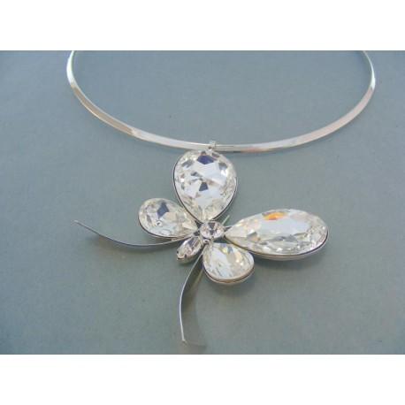 Náhrdelnik z ch. ocele s príveskom motýľa