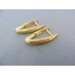 Zlaté náušnice pozdĺžne žlté zlato DA226Z