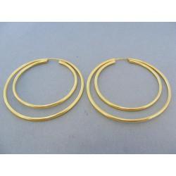 Zlaté náušnice dvojité kruhy žlté zlato DA357Z