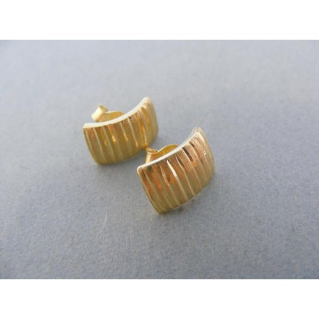 Zlaté náušnice napichovačka žlté zlato vzorované