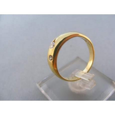 Zlatý dámsky prsteň žlté zlato malé kamienky