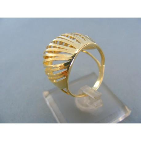 Elegantný dámsky prsteň v žltom zlate