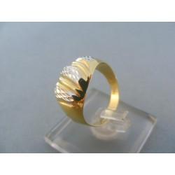 Zlatý dámsky prsteň s výčnelkami žlté biele zlato DP54223V